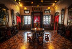 Title - Pinang Peranakan Mansion - Living Quarters Photographer name - Ken Wah Description of place This was taken at Pinang Peranakan Mansion, an amazing historical mansion in Penang, Malaysia. Kit Homes Australia, Holiday Homes For Sale, Metal Shutters, Beach Houses For Sale, Chinese Picture, Chinese Buildings, Houses In America, Historic Homes For Sale, Chinese Interior