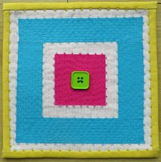 "These minimini (6 x 6"" or 15 cm square) quilts are another example of small projects that can be fitted in whenever there is a spare momen..."