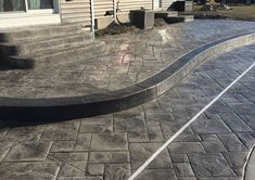 Grand Slate - Palermo Concrete, Inc. Mason Work, Boarders, Palermo, Slate, Concrete, Charcoal, Sidewalk, Deck, Gray