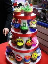 Resultado de imagen para cupcakes de superheroes