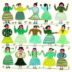 Argentina based illustrator Maria Luque is a star in drawing characters. They're fun, quirky, sometimes a bit naughty and always make me laugh.