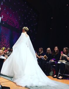 First look at the Elsa inspired wedding dress from the 2016 Disney's Fairy Tale Weddings by Alfred Angelo Wedding Dress Collection