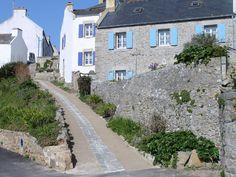 Habitations à Lampaul Lampaul, Ouessant, Finistère, \\ Bretagne, France