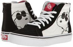 Vans Kids Sk8-Hi Zip x Peanuts Joe Cool/Black) Kids Shoes