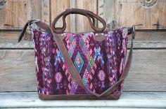 Gorgeous Guatemalan Huipil Weekender Bag by Tienditaboutique