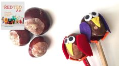 Our Nature Craft ideas for Autumn continue with this VIEWER REQUEST for conker pencil toppers. What are conkers?! Conkers are also known as Chestnuts, Buckey...