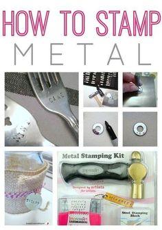 How to Stamp Metal! Stamp old silverware, make jewelry. #jewelrymaking