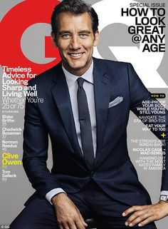Clive Owen, reveals 'sex gets better with age' in GQ interview Ageing well: Clive Owen revealed sex gets better with age during a special interview with GQ magazine Clive Owen, Gq Magazine Covers, Sebastian Kim, Look Formal, Business Portrait, Poses, Lookbook, Gentleman Style, Stylish Men