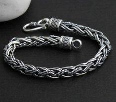 Sterling Silver Men's Cuff Bracelets | Bracelet Handmade Thailand 925 Sterling Silver Tribal Bracelet for Men ... - unique mens rings jewelry, sale mens jewelry, jewelry mens rings