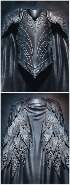 "Thranduil's ""leather feather"" armour from ""The. - armour cosplay feather Leather - Thranduil's ""leather feather"" armour from ""The… – Armadura Medieval, Fantasy Armor, Medieval Fantasy, Medieval Armor, Medieval Gown, Larp, Leather Armor, Elvish, High Fantasy"