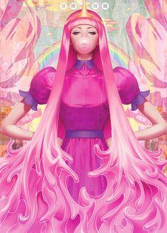 It's Adventure Time for Stanley Lau (aka Artgerm)Princess Bubblegum - the dancing rest