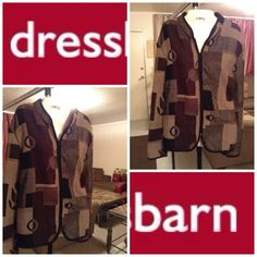 "Dress Barn Plus Size Jacket Dress Barn Jacket is made of 60% Polyester and 40%Rayon. Great pattern design.  Size 2X. The colors in this jacket are: Beige/Black/Brown. Looks great and feels great. Laying flat Arm to Arm is ""25.5. Sleeve Length is ""18.5. Length of entire Jacket is ""27.5. This item is in Good condition, Authentic and from a Smoke And Pet free home. All Offers through the offer button ONLY. I Will not negotiate Price in the comment section. Thank You😃 Dress Barn Jackets & Coats"