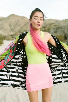 She's so open. I feel like she's just enjoying the wind! #nastygal #MINKPINK