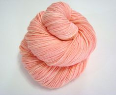 Salmon Dyed Yarn Merino Blend Wool Indie Dyed by WallflowerYarns