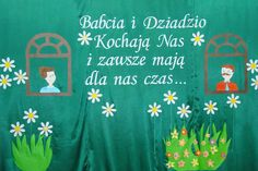 Znalezione obrazy dla zapytania dzień babci i dziadka Grandparent Gifts, Green Day, Holidays And Events, Diy And Crafts, Education, School, Decor, Art, Paper