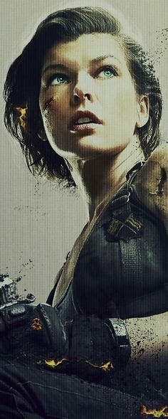 Milla Jovovich just seems like a badass in all her roles in Resident Evil movies acting out as Alice. I consider her my role model :) Gif Terror, Vampire Pictures, Tough Girl, Milla Jovovich, Sci Fi Movies, Amazing Spider, Hollywood Celebrities, Underworld, American Actress