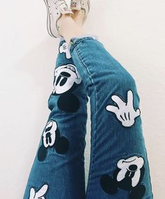 d i s n e y ⏰ ReDisney - Outfits For Adults Coolest Mickey Mouse Jeans