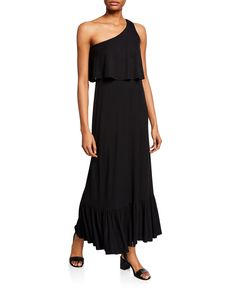 Rachel Pally Plus Size Harmony One-shoulder Sleeveless Maxi Dress In Black Rachel Pally, Ankle Length, Luxury Fashion, One Shoulder, Plus Size, Clothes For Women, Formal Dresses, Style, Black