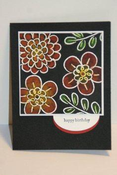 SC372 Flower Fest Pastels on Black