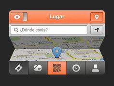 Dribbble - Map by Javi Pérez