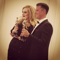 Adele wins Best Original Song for Skyfall. Photo by The Academy Instagram