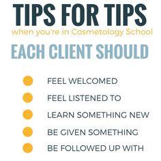 COSMETOLOGY SCHOOL TIPS