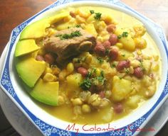 One of the most traditional recipes of Colombian soups, specifically from the Department of Santander Sopa de Mute or White Hominy Corn (Pozole) Soup Colombian Dishes, My Colombian Recipes, Colombian Cuisine, My Favorite Food, Favorite Recipes, High Carb Foods, Mexican Food Recipes, Ethnic Recipes, Comida Latina