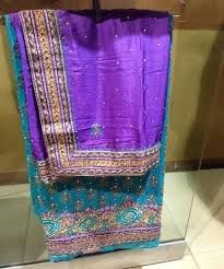 Image result for purple Dupatta heavy