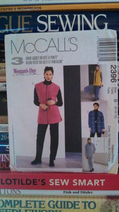 1999 McCall's Woman Day Collection-3 Hr Jacket or Vest & Pants Pattern 2396-Sz 8-10-12-Misses'-Teens-Collar and Pocket Options-UNCUT by PaperDiversities on Etsy