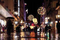Calle de Madrid, bajo la lluvia