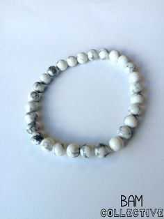 White & Grey Carrara Marble Bracelet by BAMcollective on Etsy
