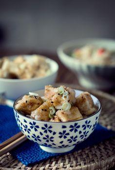 Fried Tofu with Ginger, Chili and Honey Dressing by condospalillos #Tofu #Chili #Honey