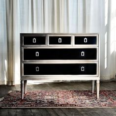Dresser no. Seventeen.  Classic yet modern in Toned Oak Light with Classic Color Onyx drawer fronts.