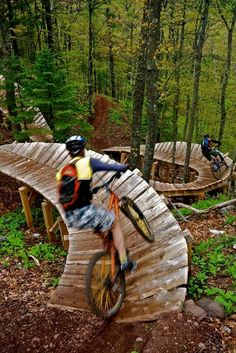 Copper Harbour Mountain, Michigan bike trail....what fun!