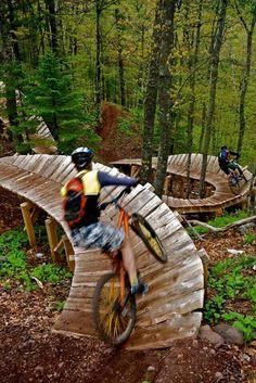 Copper Harbour Mountain, Michigan bike trail....what fun!