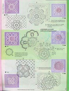 Criatividades em Crochê: Muitos motivos florais