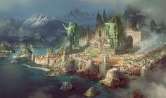 fantasy medieval city art concept Recherche Google in 2020 Fantasy city Fantasy concept art Fantasy landscape