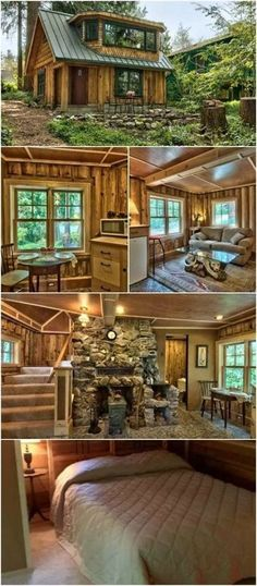 This Cozy Log Cabin Has One Bedroom And Bathroom With Beautiful Outdoor E