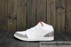 99925af36bec2e Mens Air Jordan AJ 1 Retro 1 Low Basketball Shoes High Quality White  Rift