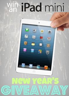 iPad mini New Years Giveaway-- come join in the fun! on www.whatscookingwithruthie.com #ipadmini #giveaway