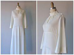 Vintage 1970's Boho Wedding Dress | Wedding Gown | Bridal Gown | Bridal | Weddings on Etsy, $188.68 AUD