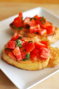 This was a total hit at my house last night! Best bruschetta ever - click for recipe
