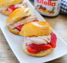 Strawberry Nutella Shortcakes | Kirbie's Cravings | A San Diego food & travel blog