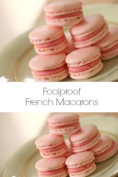 Beth's Foolproof Macaron Learn how to make a foolproof macaron using my 6 foolproof tips! A great cookie recipe for Valentines Day or Baby or bridal showers! - Learn how to make a foolproof French macaron using my 6 foolproof tips! INCLUDES VIDEO DEMO via French Macaroon Recipes, French Macaroons, How To Make Macaroons, Raspberry Macaroons, Best Macaroon Recipe, Strawberry Macarons Recipe, Vanilla Macarons, Mini Macarons Recipe, French Macaron Filling