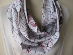 world map print infinity scarf book scarf Loop Men's by BellaTurka, $17.00
