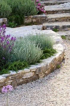 Roses Gardening 20 Enchanting Stone Walls Garden Ideas - Trendecora - Rose gardens and rose garden designs are typically quite stunning on their own, but if you are looking for a […] Gravel Garden, Garden Edging, Garden Borders, Garden Stones, Garden Paths, Pea Gravel, Veg Garden, Gravel Path, Gardening Vegetables