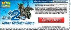 Save $2 on Tetra GloFish® Aquarium Decor. #coupon #glofish #tetra #aquariumdecor http://shout.lt/HjmC