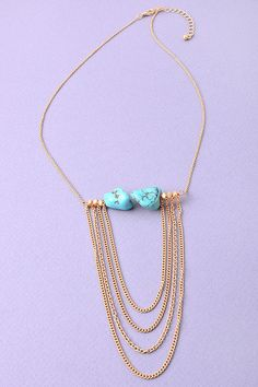 Stones of Turquoise Necklace from Gypsy Outfitters