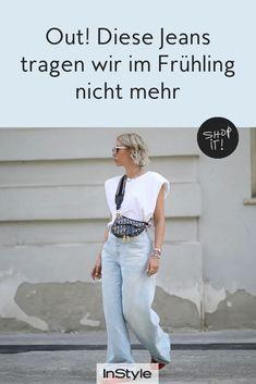 Jeans sind immer Trend! Welche Modelle wir im Frühling 2021 tragen und welche nicht mehr, verraten wir euch hier. #instyle #instylegermany #jeans #jeanstrend #denim #frühlingstrend #in #out