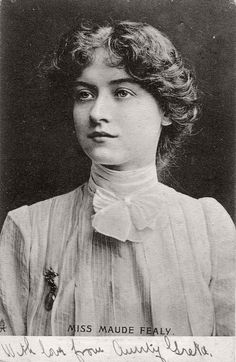 Photo collection of early XX century Vintage Postcards of actress Miss Maude Fealy (1900s).  Maude Fealy (1883 - 1971) was an American stage and silent film a